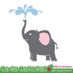 Elephant Vinyl Wall Decal for a Safari Jungle Nursery, Kids, Childrens Room 506