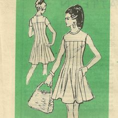 Prominent Designer A 947  1970s Misses Dress Pattern vintage sewing pattern by mbchills,