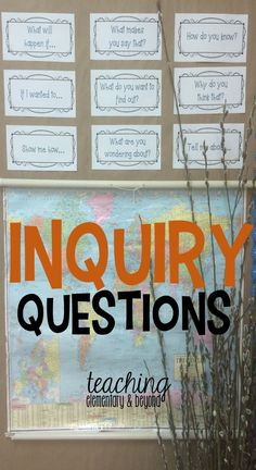 Inquiry questions to post as prompts in your classroom for reflection, reminders and to help visitors and supply teachers who may come into your classroom.