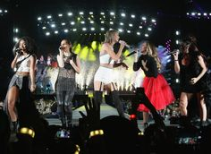 Taylor and special guests Little Mix performed Black Magic during the 1989 World Tour in Santa Clara night two! 8.15.15