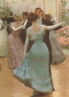 Victor Gabriel Gilbert's An Elegant Soiree (In detail)