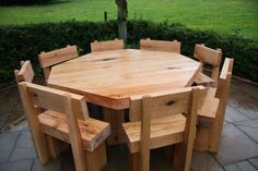 Furniture from oak railway sleepers