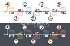 Clipart vectoriel : CHRONOLOGIE Infographie