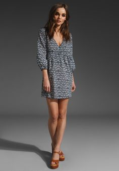 Ikat Printed Voile Dress