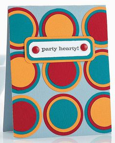 Fun and colorful card with cardstock and circle punches ala Alison Anderson.