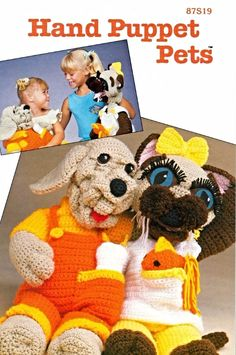 vickykline knit and crochet puppet patterns