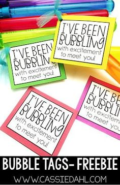 These bubble tags are the perfect thing for the beginning of the year! FREE download!