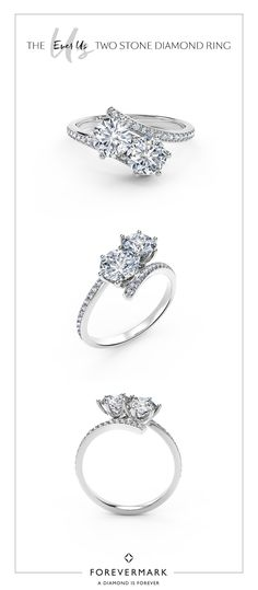 One diamond for your best friend. One diamond for your true love. Celebrate your unique bond with the Ever Us™ Two Stone diamond ring. Best Engagement Rings, Locket Necklace, Queen, Diamond Are A Girls Best Friend, Diamond Rings, Just In Case, Jewelry Accessories, Jewelry Shop, Jewelery