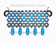 Free pattern for necklace Sogdiana by Lyubov Buntova   Beads Magic