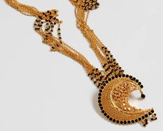 Gold and jet beads - Mangalsutra
