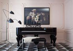 christine dovey - one room challenge piano room