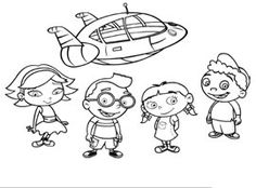 Little Einsteins colour pages