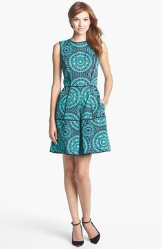 Taylor Dresses Jacquard Fit & Flare Dress available at #Nordstrom