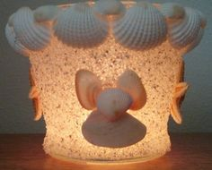Hey, I found this really awesome Etsy listing at https://www.etsy.com/listing/121414042/beach-decor-seashell-candle-holder
