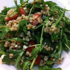 Arugula and Israeli couscous salad   #PinkdJewelry