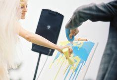 wedding unity ceremony paint canvas/ more fun to do than sand in a jar. Cute Wedding Ideas, Wedding Trends, Diy Wedding, Wedding Stuff, Wedding 2015, Wedding Bells, Wedding Inspiration, Best Wedding Dance, Dream Wedding