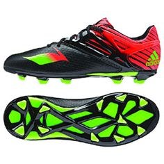 adidas Youth Lionel Messi 15.1 TRX FG Soccer Shoes (Black/Red)