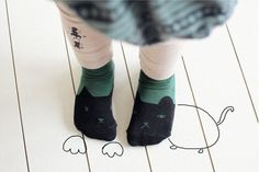 Socks by Ae-hem (Bien a Bien) in collaboration with Onion Factory. Korean Children Fashion