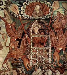 Alexander the Great as Aeronaut, 15th century tapestry. (Alexander the Great became the hero of many fantastical adventures. You could call him the Chuck Norris of the Medieval age.)