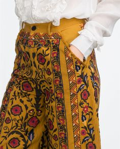 EMBROIDERED TROUSERS - View all - Trousers - WOMAN | ZARA United Arab Emirates