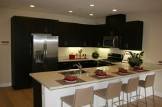 With Caesarstone being featured throughout the Shea Home kitchen shows how vesatile Caesarstone is in your home renovations.