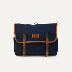 Bleu de Chauffe - Musette Mariole. Canvas and leather bag. Made in France