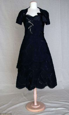 Augusta Auctions, November 10, 2010 - St. Pauls - NYC, Lot 369: Jean Patou Couture Black Party Dress, C. 1950