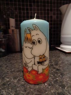 moomins candle by CANDLEMANDAN on Etsy