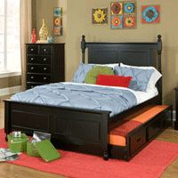Aiden Black Full Trundle Bed - Boys Room Furniture - My Pigsty