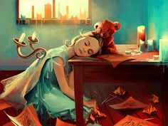 This is a game waiting to be written.  Art by Cyril Rolando, AquaSixio on DeviantArt.