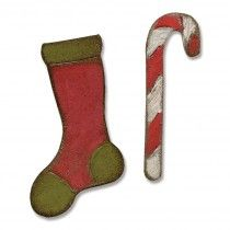 Sizzix Movers & Shapers Magnetic Die Set 2PK - Mini Stocking & Candy Cane