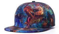 17.90$  Buy now - http://alidne.shopchina.info/1/go.php?t=32410000740 - New Fashion Baseball Caps Hiphop Roaring Dragon 3D Allover Print Unique Snapback Caps Men Women Cool Caps Vintage Snapback Hats  #buyonlinewebsite