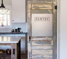 This Door Was An Old Antique Door That We Rebuilt And Re Purposed As A Pantry  Door.