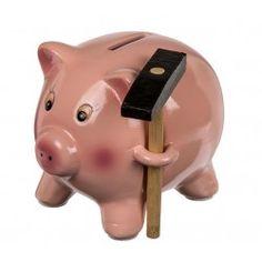 Pokladnička prasátko s kladívkem Piggy Bank, Money Box, Money Bank, Savings Jar