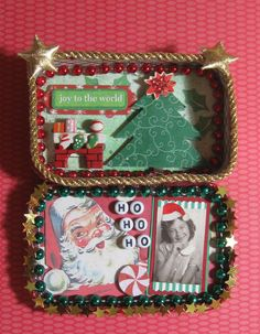 Joy To The World Altered Altoid Tin By Michele Littlefield. $26.00, via Etsy.