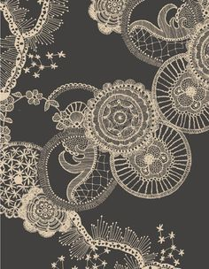 Instead of the typical lace tattoo idea, how about circles with different patterns.