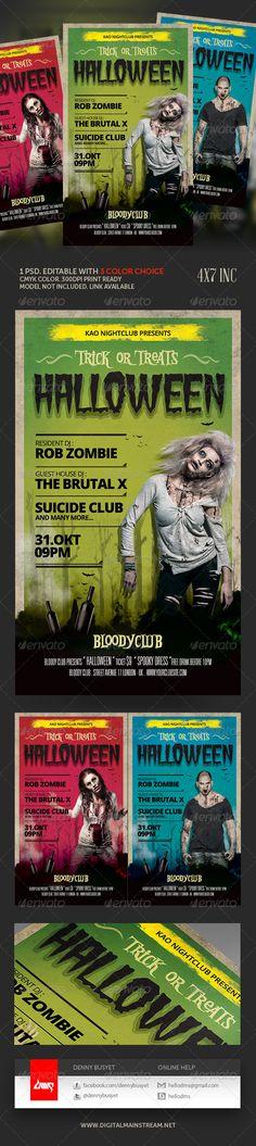 Illustration Halloween Monster Zombie Pumpkin Zombie pumpkins - zombie flyer template
