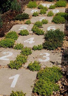 5 Harmonious Tips AND Tricks: Backyard Garden Retreat Yards zen backyard garden inspiration.Simple Backyard Garden How To Build luxury backyard garden outdoor. Garden Paths, Garden Art, Garden Landscaping, Landscaping Ideas, Backyard Ideas, Kid Garden, Garden Stones, Children Garden, Herb Garden