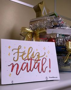 Lettering de natal. Mensagem de natal. Natal 2019. Lettering especial. #natal #lettering Bujo, Bullet Journal, Xmas, Gift Wrapping, Gifts, Notebook Ideas, It Works, Life, Style