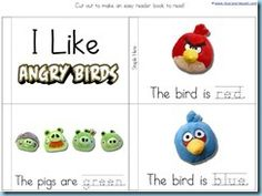 Angry Bird printables-- this could be dangerous. My students are obsessed!