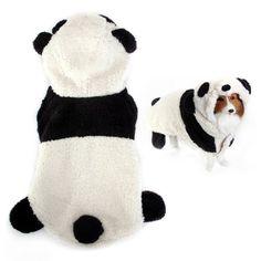 Pet Dog Puppy Panda-like Hoodie Autumn Winter Coat Clothes Apparel Neckline: Approx. 10 inch / 25.4 cm - http://www.thepuppy.org/pet-dog-puppy-panda-like-hoodie-autumn-winter-coat-clothes-apparel-neckline-approx-10-inch-25-4-cm/