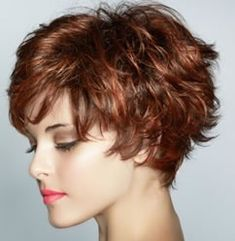 Love this cut, curl and color! Short...love this but my hair has NO curl...would need a perm-ugh