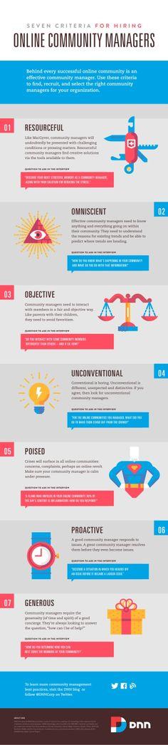 7 criterios para contratar Community Manager #infografia #infographic#socialmedia