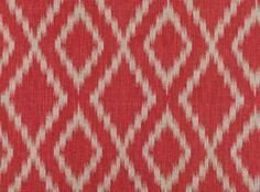 Zahira Red Tulip - Orvieto : Designer Fabrics & Wallcoverings, Upholstery Fabrics