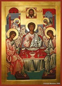 Holy Trinity - Andreas Menelaou: Byzantine Orthodox Iconographer | Portable Icons