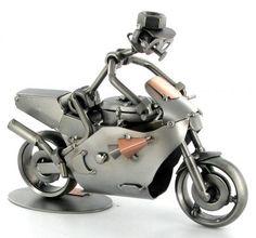 Motor-Bike-Layer-Nut-Bolt....art Metal Projects, Welding Projects, Metal Crafts, Welding Shop, Welding Art, Mechanical Art, Steel Art, Metal Toys, Motorcycle Art