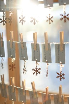 Use a light weight embellishment as a counter weight so the escort cards don't blow away or flutter in the wind.  Shannon   Mike – Devil's Thumb Ranch Winter Wedding