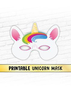 Unicorn Fairy Tale Printable Mask Magical Rainbow Horse Kids