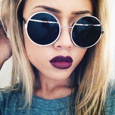 Purple lips. Fall lip color