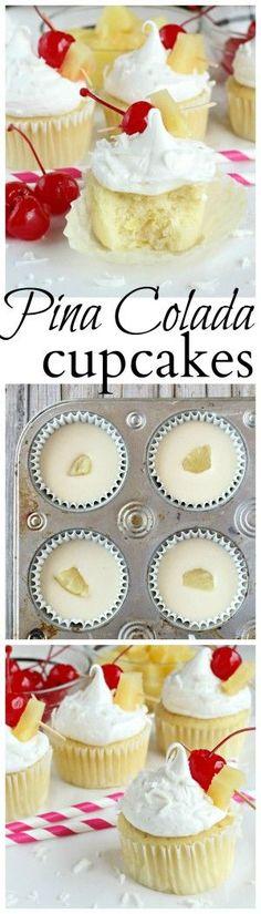 Pina Colada cupcakes made with pineapple, coconut and Sir Bananas™️ Bananamilk. #Bananamazing #ad